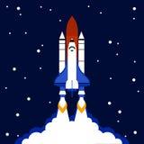 Fond de fusée d'espace de concept de lancement illustration stock