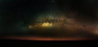 Fond de galaxie de manière laiteuse, ciel nocturne avec le fond de manière laiteuse, science d'astronomie et belle galaxie de man Photo libre de droits