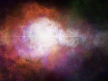 Fond de galaxie de l'espace avec la nébuleuse Photographie stock