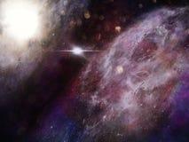Fond de galaxie de l'espace avec la nébuleuse Image libre de droits