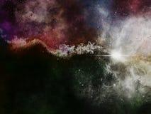 Fond de galaxie de l'espace avec la nébuleuse Photographie stock libre de droits