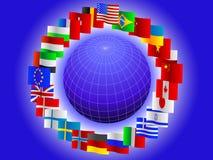 Fond de globe Photographie stock libre de droits