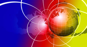 Fond de globe Images libres de droits