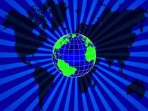 Fond de globe du monde Photo libre de droits