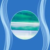 Fond de gradation de vert bleu Photos libres de droits