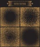 Fond de gradient avec les points d'or Dotwork Images stock