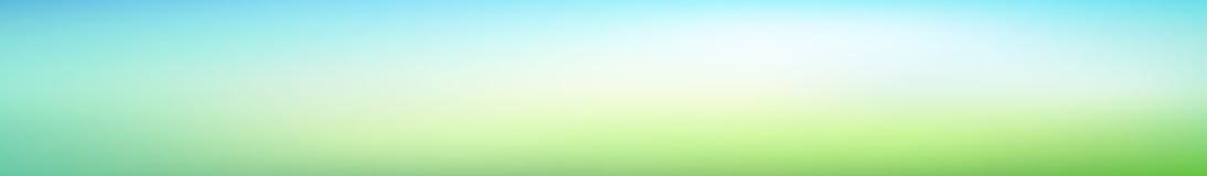 Fond de gradient brouillé par vert panoramique de résumé Vue horizontale pour panneaux en verre - skinali Contexte moderne à la m illustration de vecteur