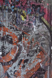 Fond de graffiti de rue de ville Photos libres de droits