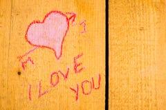 Fond de graffiti de valentines Image libre de droits