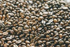 Fond de grains de café de plan rapproché Photos stock