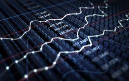 Fond de graphique de marché boursier Images stock