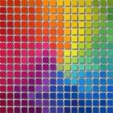 Fond de graphiques de pixel - petites places - arc-en-ciel polychrome de spectre coloré Image libre de droits