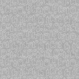 Fond de Gray Baby Tile Pattern Repeat Illustration de Vecteur