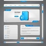Fond de Gray And Blue On Dark d'éléments de contrôles du Web UI Photos libres de droits