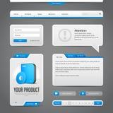 Fond de Gray And Blue On Dark d'éléments de contrôles du Web UI Image stock