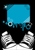 Fond de grunge d'Adidas Image stock
