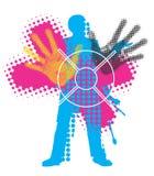 Fond de grunge d'impression couleur Images libres de droits
