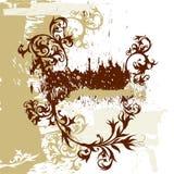 Fond de grunge de calligraphie Images stock