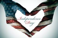 Fond de grunge de l'indépendance Day Images libres de droits