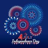 Fond de grunge de l'indépendance Day Image stock