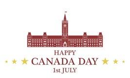 Fond de grunge de l'indépendance Day canada Images stock
