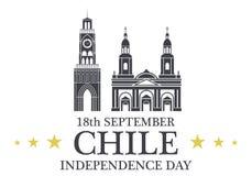 Fond de grunge de l'indépendance Day chile illustration stock