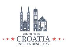 Fond de grunge de l'indépendance Day Croatie Image libre de droits