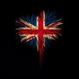 Fond de grunge de l'indépendance Day J'aime les Etats-Unis Images libres de droits