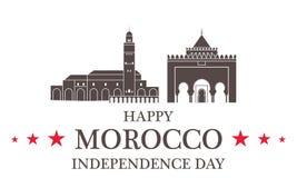 Fond de grunge de l'indépendance Day morocco illustration stock