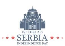 Fond de grunge de l'indépendance Day serbia Photographie stock libre de droits