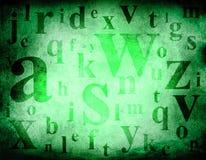 Fond de grunge de mélange d'alphabet Photographie stock libre de droits