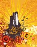 Fond de grunge de paysage urbain Image stock