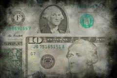 Fond de grunge de texture de billets de banque d'argent du dollar des Etats-Unis Photo libre de droits