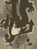 Fond de grunge de typographie Photographie stock