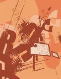 Fond de grunge de typographie Image libre de droits