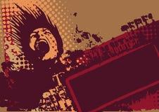 Fond de grunge de vecteur Images libres de droits