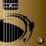 Fond de guitare Photos libres de droits