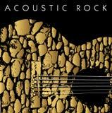 Fond de guitare acoustique Photographie stock