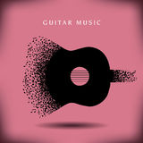 Fond de guitare de musique Photographie stock