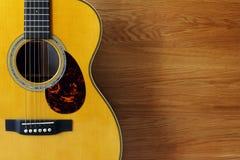 Fond de guitare et en bois Photos stock