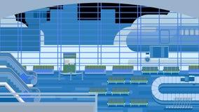 Fond de hall à l'aéroport illustration stock