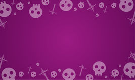 Fond de Halloween avec la collection de crâne Photographie stock libre de droits