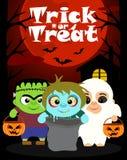 Fond de Halloween avec le tour ou le traitement d'enfants Photo libre de droits