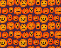 Fond de Halloween avec les potirons drôles illustration stock