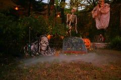 Fond de Halloween dans le jardin Images libres de droits