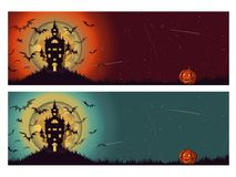 Fond de Halloween de deux diferents illustration stock