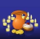 Fond de Hanukkah avec des bougies Images libres de droits