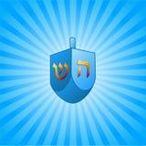 Fond de Hanukkah avec le dreidel Image stock