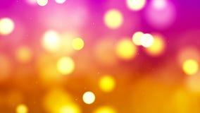 Fond de HD Loopable avec le bokeh d'or abstrait gentil illustration libre de droits