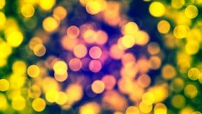 Fond de HD Loopable avec le bokeh jaune gentil illustration stock